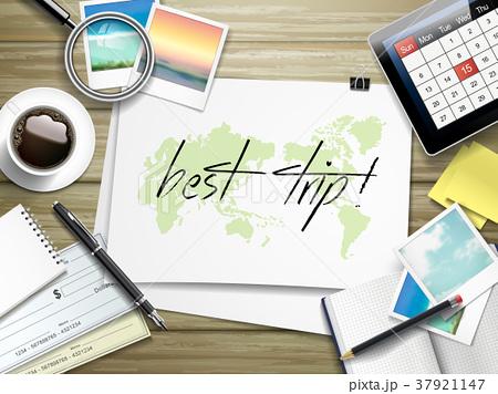 best trip written on paperのイラスト素材 37921147 pixta