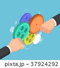 ギア ギヤ ビジネスのイラスト 37924292