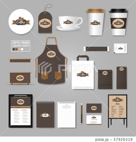 coffee shop corporate identity template concept のイラスト素材