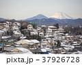 東京都八王子市 冬の富士山と八王子市街 37926728