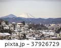 東京都八王子市 冬の富士山と八王子市街 37926729
