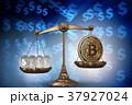 ブロックチェーン ビットコイン はかりのイラスト 37927024