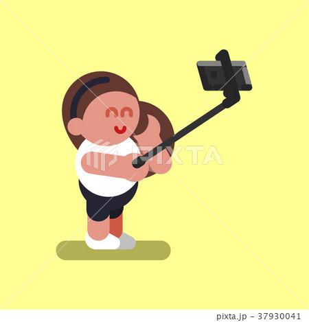 Girl makes selfie 37930041