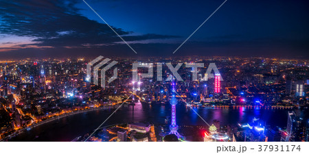 中国・上海の夜景 37931174