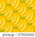 バナナのイラストの背景/シームレス 37934449