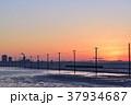 黄昏時の江川海岸 37934687