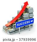 Growing bar graph from US dollar banknotes 37939996