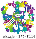 音楽 ミュージカル 楽器のイラスト 37945114