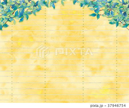 青葉と板塀の背景イラスト 37946754