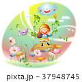 季節 天気 春のイラスト 37948745