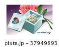 バラの花 ボックス ギフトのイラスト 37949893