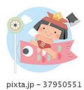 端午の節句 鯉のぼり 金太郎のイラスト 37950551