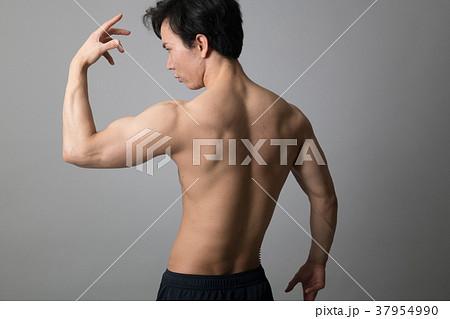 男性ボディービルダー 後ろ姿 上腕二頭筋 37954990