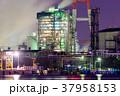 プラント 工場夜景 夜の写真 37958153
