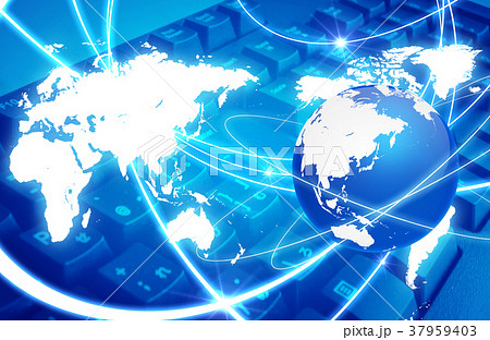 ネットワーク素材 37959403