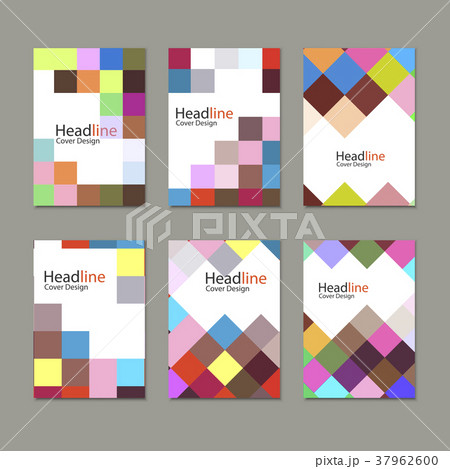 brochure template design with squares andのイラスト素材 37962600
