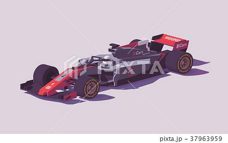 Vector low poly formula racing car 37963959