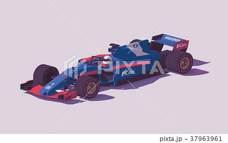 Vector low poly formula racing car 37963961