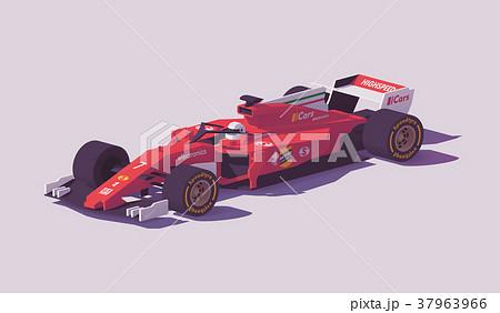 Vector low poly formula racing car 37963966