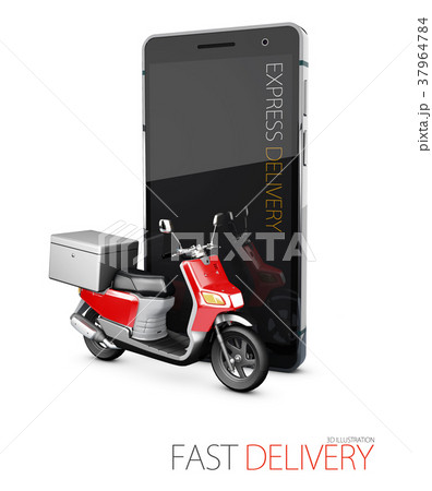 Delivery ride scooter motorcycle service 37964784