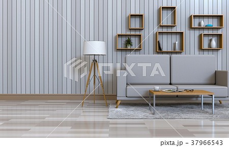 3D rendering of interior modern living room  37966543