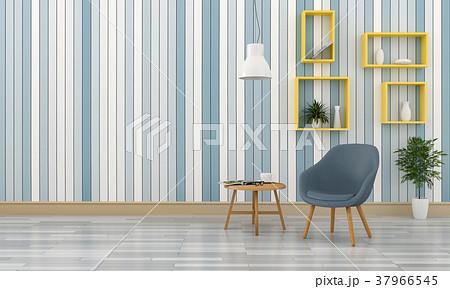 3D rendering of interior modern living room  37966545