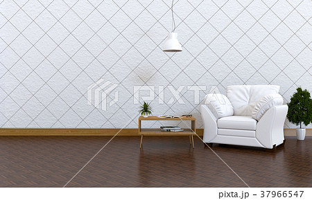 3D rendering of interior modern living room  37966547