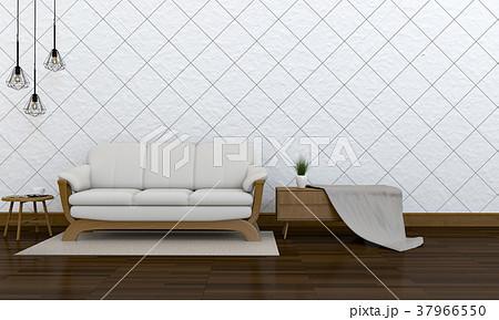 3D rendering of interior modern living room  37966550