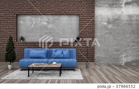 3D rendering of interior modern living room  37966552