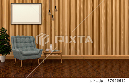 3D rendering of interior modern living room  37966612