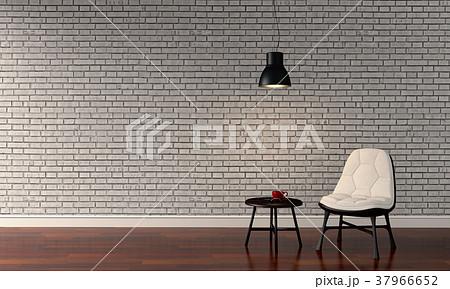 3D rendering of interior modern living room  37966652