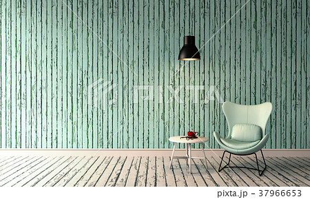 3D rendering of interior modern living room  37966653