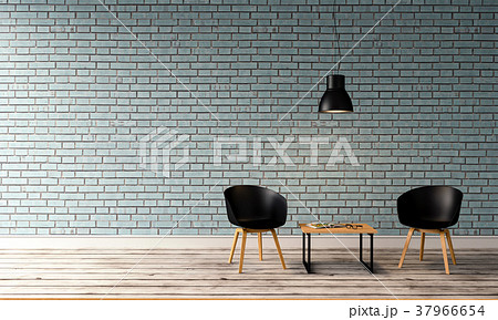 3D rendering of interior modern living room  37966654
