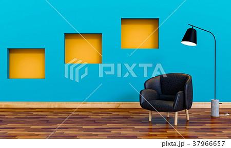 3D rendering of interior modern living room  37966657