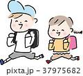 子供 登校 笑顔 イラスト ベクター 37975682