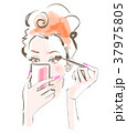 女性 化粧 ビューティーのイラスト 37975805