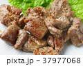 焼肉 サイコロステーキ 食べ物の写真 37977068