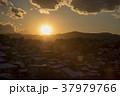 東京都八王子市 冬の八王子市街の夕焼けと富士山 37979766