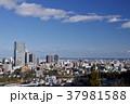 冬晴れの午後、仙台城址から望む市街と太平洋 37981588