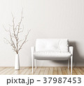 Interior with armchair and branch 3d rendering 37987453