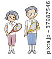 シニア夫婦 テニス1 37987546