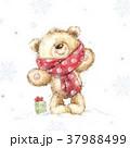 くま プレゼント 贈り物のイラスト 37988499