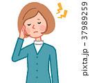 女性 人物 頭痛のイラスト 37989259