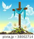 復活祭 キリスト教 十字架のイラスト 38002714