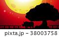 人影 影 シルエットのイラスト 38003758