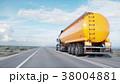 Gasoline tanker, Oil trailer, truck on highway 38004881