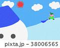 雪遊びする子供 38006565