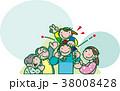 若い夫婦と老夫婦 38008428