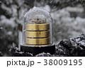 雪の日 屋外での温湿気圧計 38009195