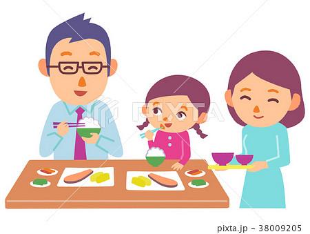 家族 食事のイラスト素材 38009205 Pixta